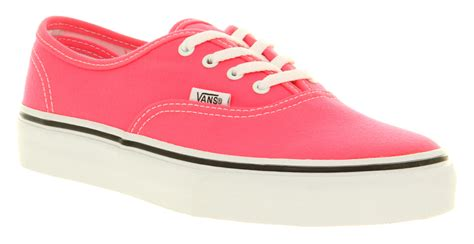 vans authentic neon pink shoes ebay