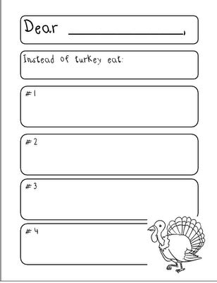 Apology Letter Ks1 Don T Eat Turkey Persuasive Letter School Stuff Writing Persuasive Writing