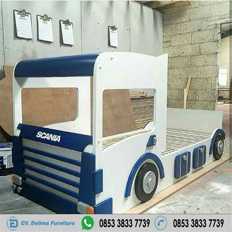 Ranjang Dan Kasur tempat tidur anak karakter scania truk jual ranjang anak