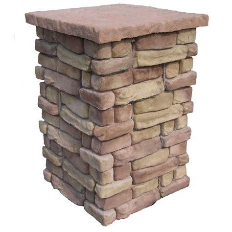 decorative deck columns random stone brown 42 in outdoor decorative column rscb42