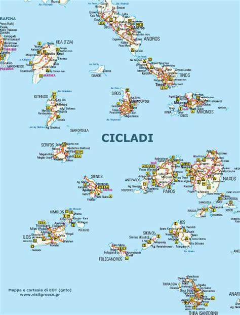 filippi lade mappa cicladi cartina isole cicladi