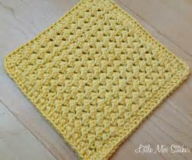 little miss stitcher 5 free crochet dishcloth patterns