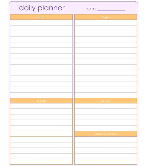 planner paper template search results for printable weekly agenda 2015