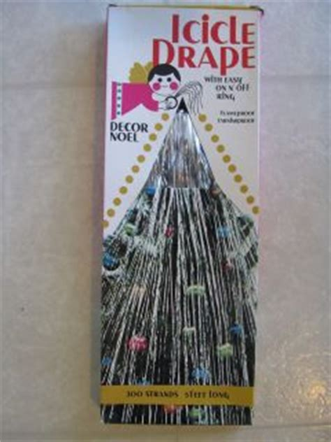 vintage christmas tree icicle tinsel drape 200 strands 5
