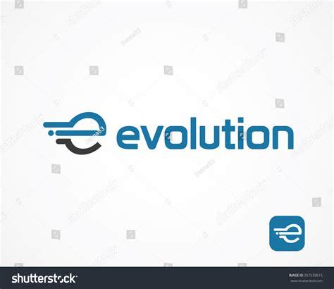 e e typography abstract letter e logo design template stock vector