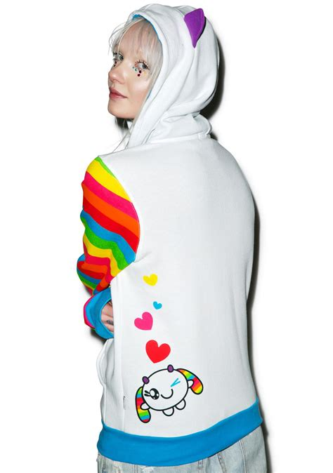 Wink Hodie iron x so so happy wink rainbow sleeve hoodie dolls