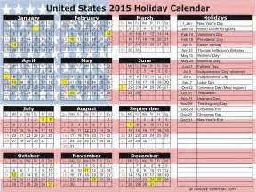 note united states 2016 holiday calendar coming soon