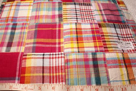 Patchwork Material - patchwork madras fabric made in india cotton patchwork