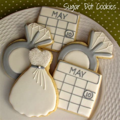 Wedding Ring Cookies by Sugar Dot Cookies Engagement Ring Cookies