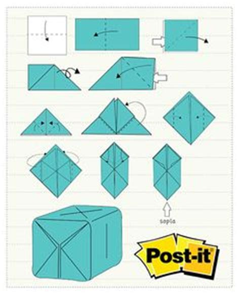 post it origami pavo real post it en papel origami pavo