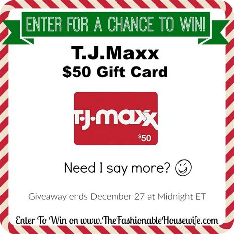 Your Favorite From Tj Maxx To Win A 50 Gift Card by Enter To Win T J Maxx 50 Gift Card