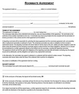 roommate rental agreement template roommate rent agreement template archives excel about