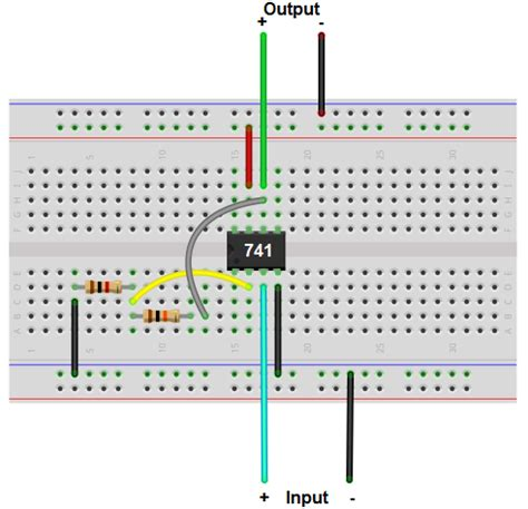how to build a non inverting op circuit