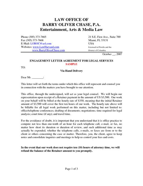 Sle Engagement Letter Crna Cover Letter Letter Of Engagement Template