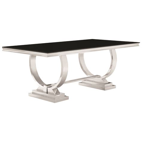 coaster glass dining table coaster antoine stainless steel dining table with glass