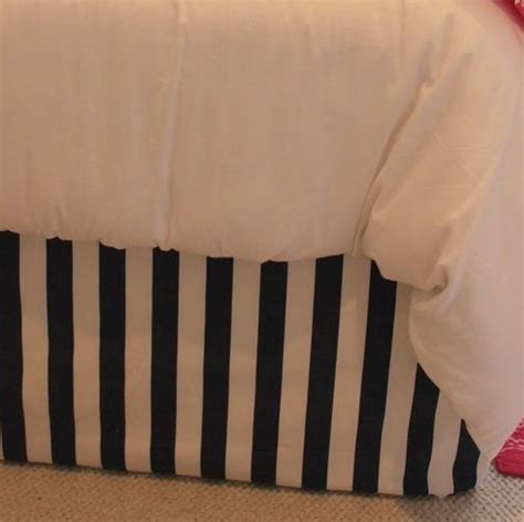 Black And White Striped Bed Skirt by Black White Stripe Cotton Tailored Bed Skirt Crib Skirt