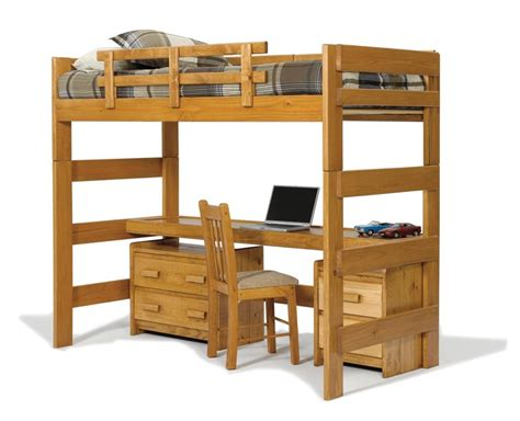 Bunk Loft Bed With Desk 17 Bunk Beds With Desks Underneath For Sale Goedeker S Home