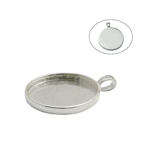 2018 beadsnice 925 sterling silver bezel tray pendant