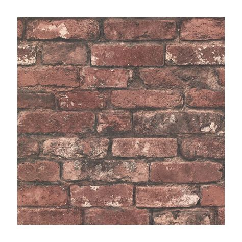 provincial wallcoverings 2604 21258 brickwork rust exposed brick effect wallpaper lowe s canada