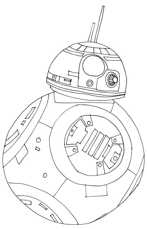 star wars bb 8 coloring pages star wars bb8 coloring page free dennis pinterest