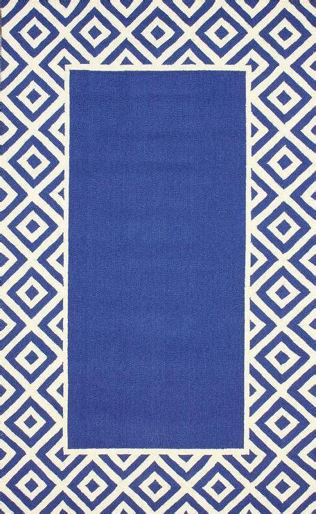 blue border rug homespun border blue rug