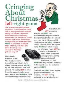 Holiday gift exchange games printable games