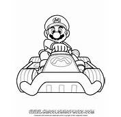 Mario Kart – Driving Coloring Page  H &amp M Pages