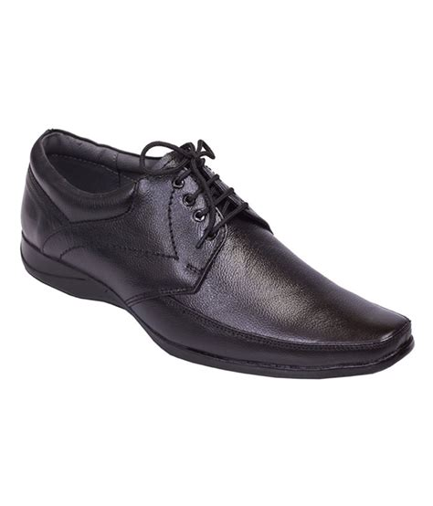 shoebook black leather formal shoes price in india buy