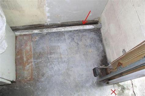 Garage Door Leaks Waterproof Concrete Floor To Wall Molding Doityourself Community Forums