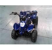 DOT EPA Blue Automatic Kids Mini 50cc Four Wheels Gas Powered Atvs