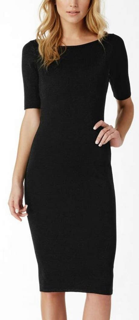 plain black dress  sleeves