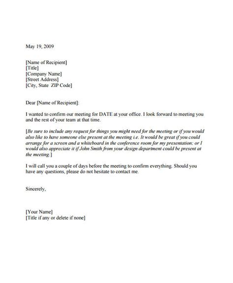7 meeting appointment letter template 8 free word pdf