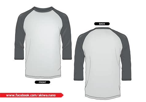 Raglan 3 4 Kaos Tshirt Baju design kaos vector studio design gallery best design