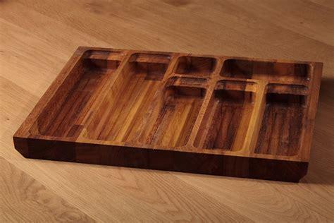 knife drawer insert wood solid iroko cutlery tray insert solid iroko cutlery