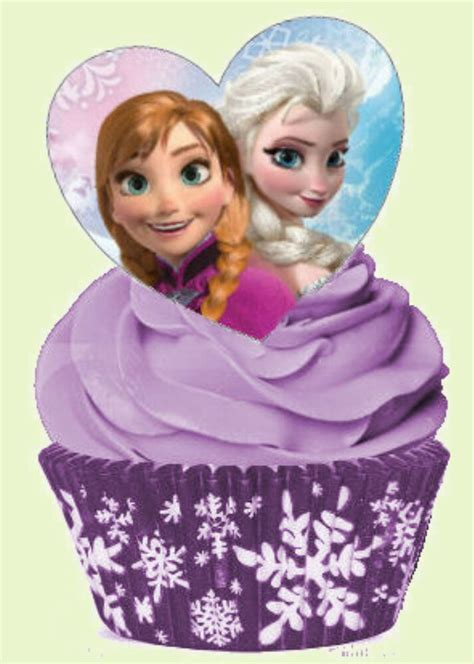 disney frozen elsa anna hearts stand  edible decoration cup cake toppers ebay