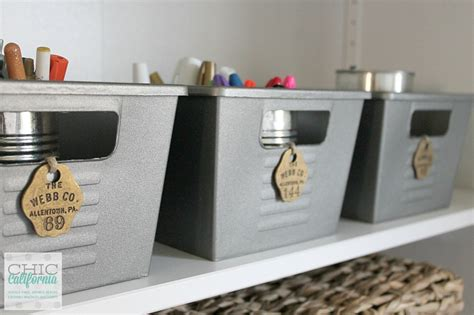 Ikea Mail Organizer dollar store diy vintage locker bins chic california