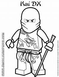 Ninjago Masters Of Spinjitzu Kai DX Coloring Page  H &amp M