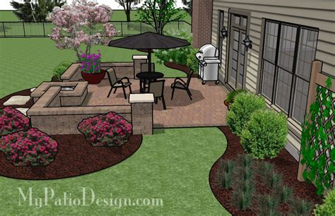and simple patio with a pit patio designs and