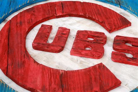 Handmade Chicago - chicago cubs handmade distressed wood sign vintage