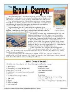 Canyon 7th grade reading prehension worksheet printable 8th grade
