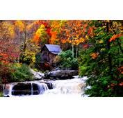 Label Autumn Waterfalls  Desktop Background Landscape