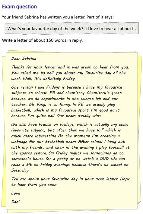 Introduction Letter For Friendship A Letter To A Friend Learnenglish Council
