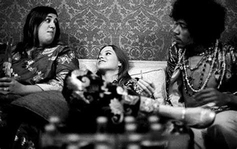 candid photographs  jimi hendrix hanging    famous friends    vintage