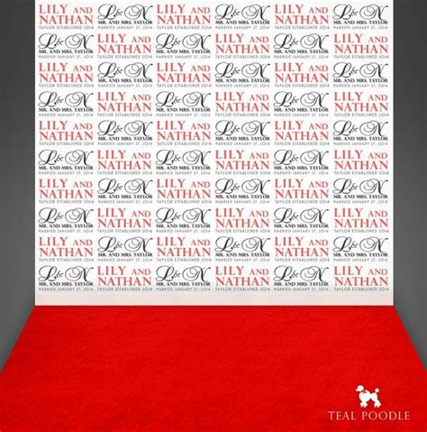 custom wedding step and repeat backdrop for red carpet wedding custom red carpet event backdrops for your event