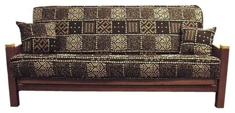 Black And White Futon Cover by Blazing Needles 3 Pc Tapestry Futon Cover Package Black