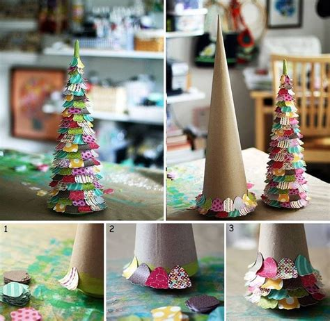 Coloured Paper Craft Ideas - cardboard cone colored paper glue find