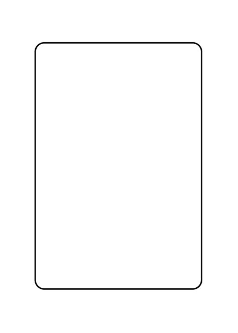 card outline template blank card png www imgkid the image kid