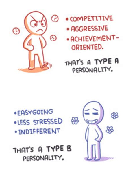 What Is A Type A L by Personality Theory Type A Vs Type B