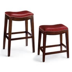 julien leather bar stool grandin road