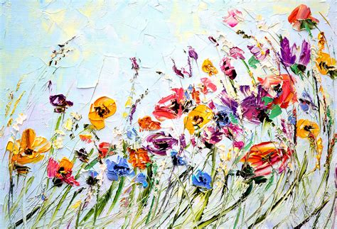 design flower paintings oil painting flowers palette knife painting on canvas abstract